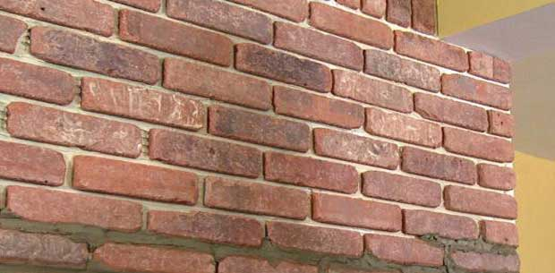 Brick veneer advantages how to install brick veneer for What is brick veneer house